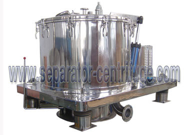 ประเทศจีน Automatic Scraper Bottom Discharge Pharmaceutical Centrifuge / Perforated Basket Centrifuge โรงงาน